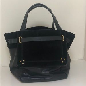 Jerome Dreyfuss Black leather and suede bag
